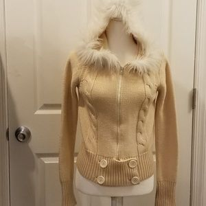 Anthro hooded cardigan